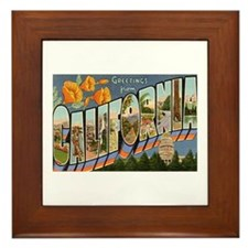Greetings from California II Framed Tile
