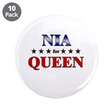 "NIA for queen 3.5"" Button (10 pack)"
