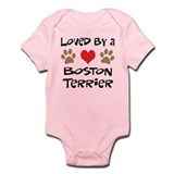 Loved By A Boston Terrier Onesie