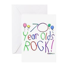 70 Year Olds Rock ! Greeting Cards (Pk of 10)