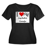 I Love My Seychellois Grandpa Women's Plus Size Sc
