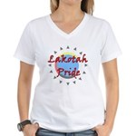 Lakotah Pride Sunburst Women's V-Neck T-Shirt