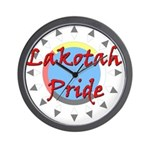 Lakotah Pride Sunburst Wall Clock