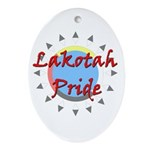 Lakotah Pride Sunburst Ornament (Oval)