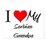 I Love My Serbian Grandpa Postcards (Package of 8)