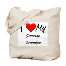 I Love My Samoan Grandpa Tote Bag