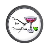Drinkie-poo Wall Clock