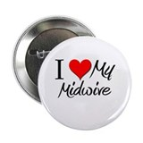 "I Heart My Midwive 2.25"" Button"