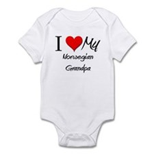 I Love My Norwegian Grandpa Infant Bodysuit
