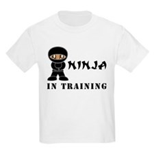 Dark Brown Eyes/Skin Ninja Kids Light Tee