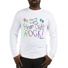 58 Year Olds Rock ! Long Sleeve T-Shirt