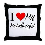 I Heart My Metallurgist Throw Pillow