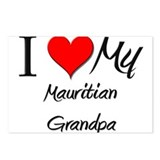 I Love My Mauritian Grandpa Postcards (Package of