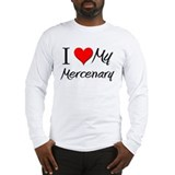 I Heart My Mercenary Long Sleeve T-Shirt