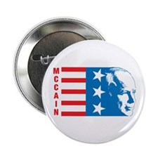 "McCain (Patriotic) 2.25"" Button"