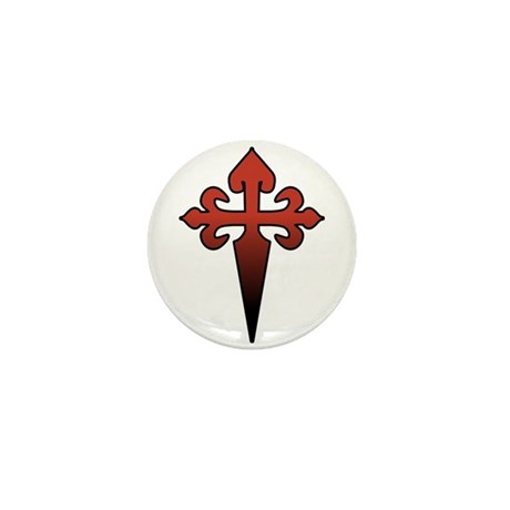 Dagger and Cross Mini Button