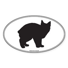 Manx Silhouette Oval Decal