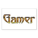 Gamer (Gold) Rectangle Decal