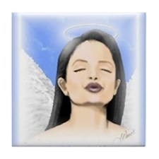 Angel Kisses tile coaster