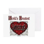 World's Best Snuggler Greeting Cards (Pk of 10)