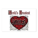 World's Best Snuggler Postcards (Package of 8)