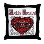 World's Best Snuggler Throw Pillow