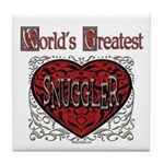 World's Best Snuggler Tile Coaster