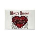 World's Best Snuggler Rectangle Magnet (10 pack)