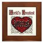 World's Best Snuggler Framed Tile