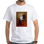 Lincoln's Corgi (Bl.M) White T-Shirt