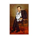 Lincoln's Corgi (Bl.M) Sticker (Rectangle)