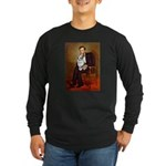Lincoln's Corgi (Bl.M) Long Sleeve Dark T-Shirt