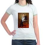 Lincoln's Corgi (Bl.M) Jr. Ringer T-Shirt