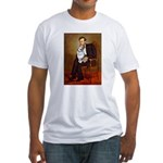 Lincoln's Corgi (Bl.M) Fitted T-Shirt