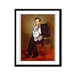 Lincoln's Corgi (Bl.M) Framed Panel Print