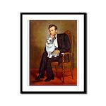 Lincoln's Corgi (Bl.M) Framed Panel Print
