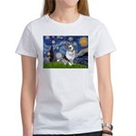 Starry Welsh Corgi (Bl.M) Women's T-Shirt
