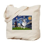 Starry Welsh Corgi (Bl.M) Tote Bag