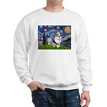Starry Welsh Corgi (Bl.M) Sweatshirt