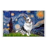 Starry Welsh Corgi (Bl.M) Sticker (Rectangle)