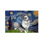 Starry Welsh Corgi (Bl.M) Rectangle Magnet