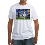 Starry Welsh Corgi (Bl.M) Fitted T-Shirt