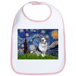 Starry Welsh Corgi (Bl.M) Bib