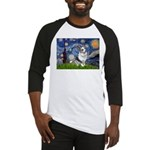 Starry Welsh Corgi (Bl.M) Baseball Jersey