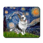 Starry Welsh Corgi (Bl.M) Mousepad