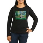 Bridge / Welsh Corgi (Bl.M) Women's Long Sleeve Da