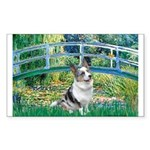 Bridge / Welsh Corgi (Bl.M) Sticker (Rectangle)