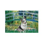 Bridge / Welsh Corgi (Bl.M) Rectangle Magnet