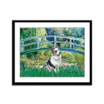 Bridge / Welsh Corgi (Bl.M) Framed Panel Print