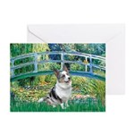 Bridge / Welsh Corgi (Bl.M) Greeting Cards (Pk of
